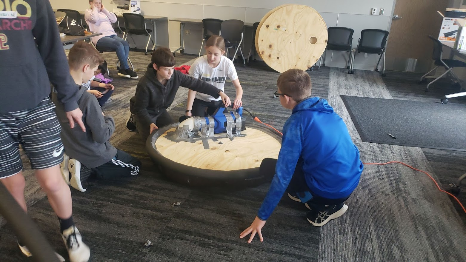 Kids with a Hovercraft