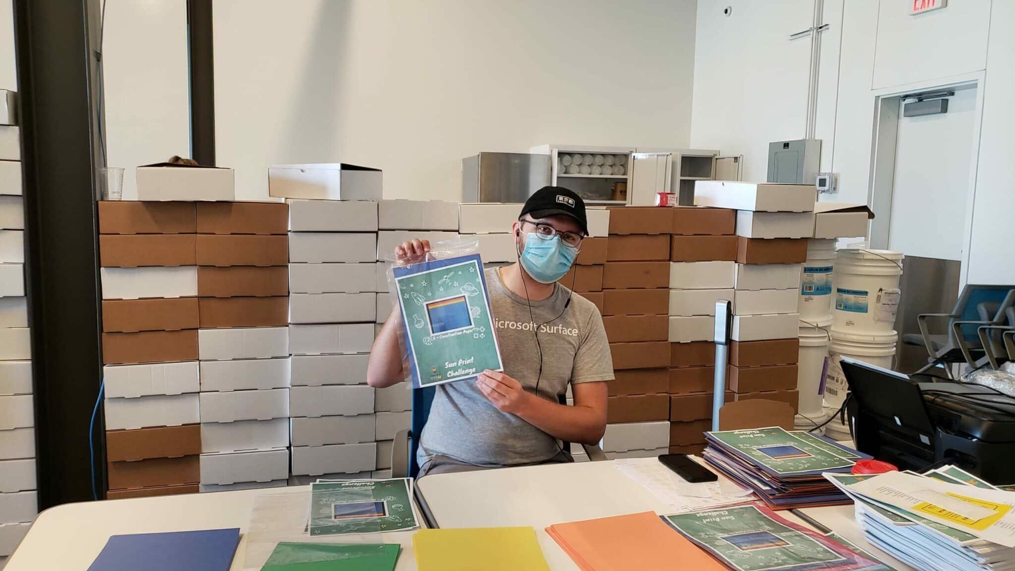 STEAM Kits - Michael Making Sun Print